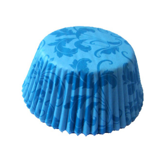 Harga 3oz Damask Blue Cupcake Liner 200 Pieces