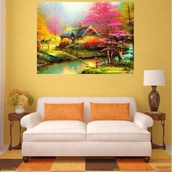 Harga Forest House DIY 5D Diamond Painting Embroidery Cross Stitch Craft Decor 40*30cm