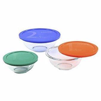Harga AUTHENTIC PYREX® SMART ESSENTIALS 6-PC. MIXING BOWL SET WITH COLOURED LIDS