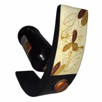 Harga Handpainted Oriental Wooden Wine Holder - Flower