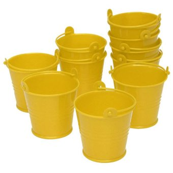 10x Mini Cute Bucket Colored Wedding Party Favour Keg Box Gift Pails Candy Lolly Yellow Price Philippines