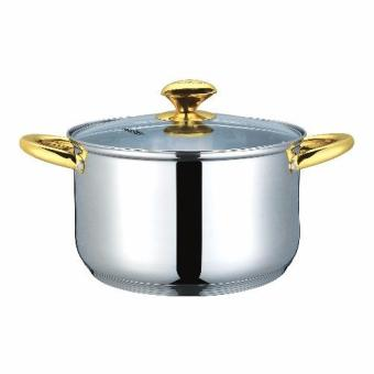 Masflex 20cm Stainless Steel Casserole with Lid (Gold) Price Philippines