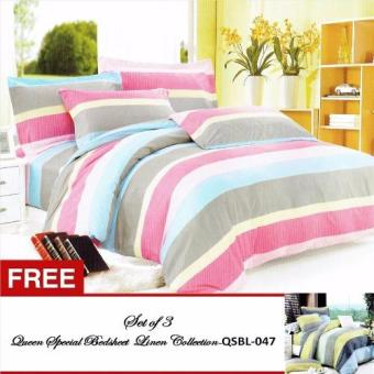 Queen Special Linen Collection Bedsheet Set of 3(QSBL-030)Queen with free Queen Special Linen Collection Bedsheet Set of 3(QSBL-047) Queen Price Philippines