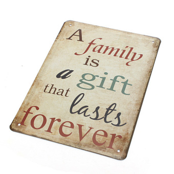 "Family Last Forever Gift"" Vintage Metal Tin Sign (Intl) Price Philippines"