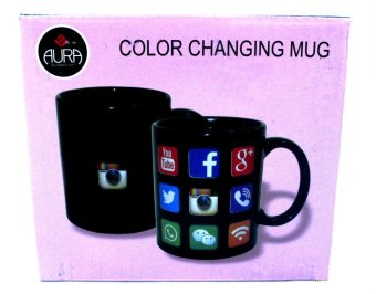 AURA Heat Activated Design Social Media Mug (black) Price Philippines