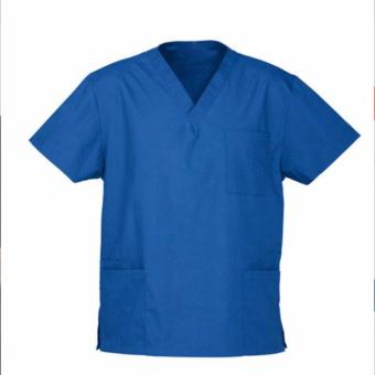 Tailored Plain Scrub Suit Set for men (Royal Blue)- 2XL Price Philippines