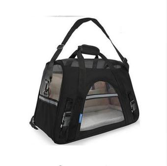 Ten Color Fashion Movement Shoulder Bag pet Carriers Bag Out Package Portable Dog pack Cat Pack Bag Backpack Dog Supplies(black)L-48cmX25cmX33cm - intl Price Philippines
