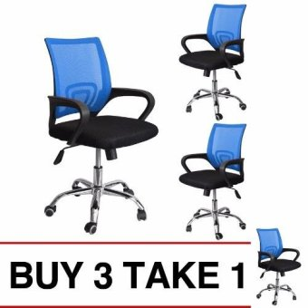 Ergodynamic Mesh Chair 360˚ Swivel Function blue mesh backrest (Blue) Buy 3 Take 1 Price Philippines
