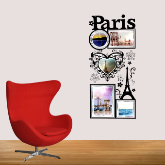 Harga Wallmark Paris Photo Frame Wall Sticker