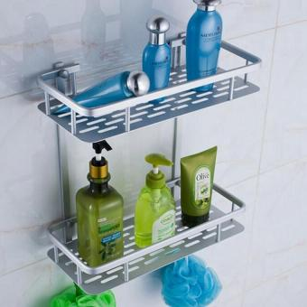 Space Aluminum Double-deck Rectangular Wall Mounted Storage Rack (Intl) Price Philippines