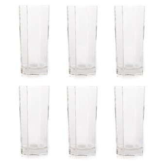 Harga Edge Clear Glass Tumbler 12oz Set of 6 (Clear)