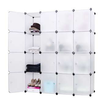 Keimav Tupper Cabinet 16 Cubes White Doors White DIY Storage Cabinet (White) Price Philippines