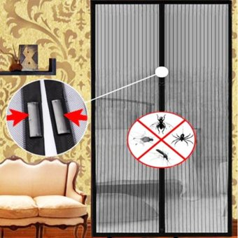 Hands Free Magic Mesh Screen Net Door with magnets Anti Mosquito Curtain Bug - Intl Price Philippines