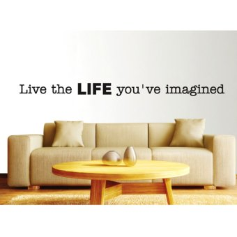 Harga Wallmark Live The Life You've Imagined Wall Sticker