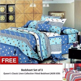 Queen Classic Linen Collection Bedsheet Set of 3 (AOIE-037)Queen with Free Queen Classic Linen Collection Bedsheet Set of 3 (AOIE-039)Queen Price Philippines