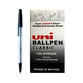 Uni Ballpen Classic (Black) Pack of 50 Price Philippines