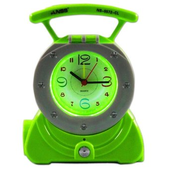 NSS 3-in-1 NS-5572-CL LED Electronic Torch with Clock (Light Green) Price Philippines