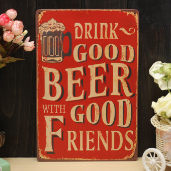 BEER FRIEND vintage Tin Sign Bar pub home Wall Decor Retro Metal art Poster - intl Price Philippines