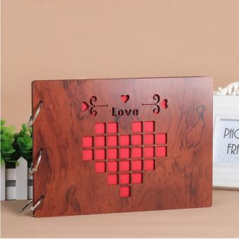 "Redwood Cover Loose-leaf Pasted Photo Albums Wedding Ceremony Baby Photos Holder Refills Ring Binder Album 10"" 27*19.5cm Price Philippines"