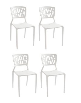 SD-452 Bamboo Chair- Set of 4 (Off White) Price Philippines
