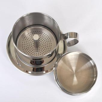 Harga The portable stainless steel Vietnam Coffee Dripper filter coffee maker high quality drip coffee filter pot filters tools - intl