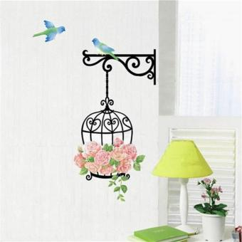 Harga Birdcage Roses Wall Sticker