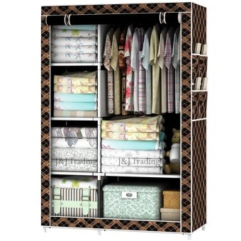 Harga Zea Fashion Storage Wardrobe (Chocolate)