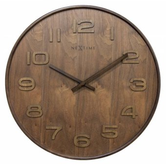 Nextime Wood Wood Wall Clock - Medium (Brown) Price Philippines
