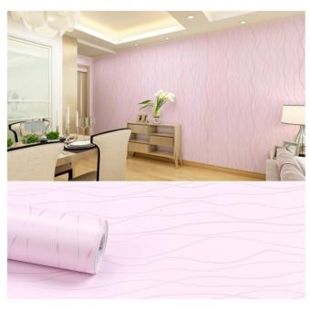 OrangeTag Pink Swirls Self-Adhesive Wallpaper / Wall Paper (10 meters) Price Philippines