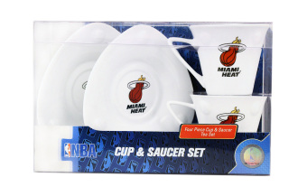 Harga Ocean Glassware NBA Miami Heat Cup and Saucer 4-piece Set