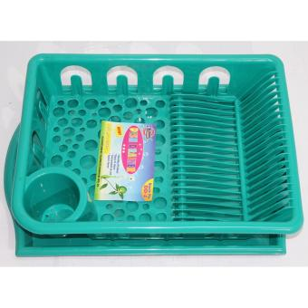 Harga Oriental Dish Drainer With Tray - Green