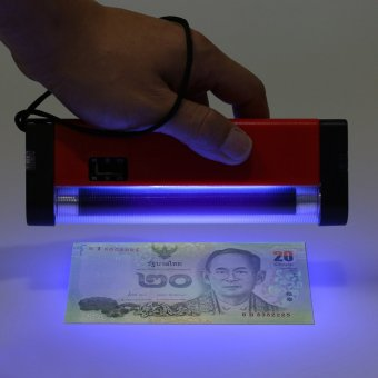 Harga Portable Handheld UV Light Torch Lamp Counterfeit Paper Currency Money Detector