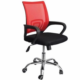 Ergodynamic Mesh Chair 360˚ Swivel Function black mesh backrest (Red) Price Philippines