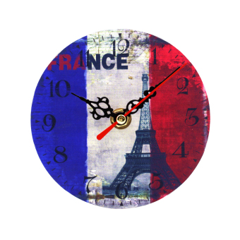 Harga Wallmark Paris France Table Clock