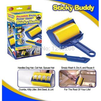 Sticky Buddy Hair Lint Dust Remover (Blue/Yellow) Price Philippines