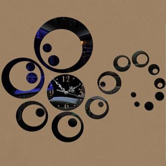 Mirrors Circles 3D Modern Mirror Wall Clock - intl Price Philippines