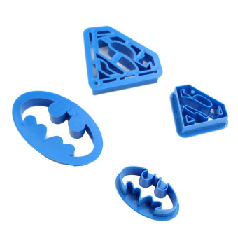 Fancyqube New Fashion 4PCS/Set Batman and Superman Baking Mold Home&Garden Kitchen Accessories - intl Price Philippines
