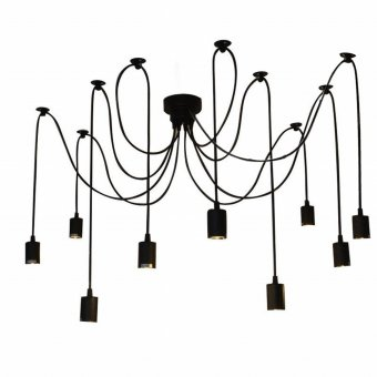 LIXADA 9 Arms E27 Ceiling Spider Pendant Lamp Light Antique Classic Adjustable DIY Retro Chandelier Dining Hall Bedroom Home Lighting Fixture Price Philippines