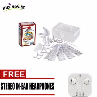 Harga MEI-MEI-TE Cake Decorating Kit 100-piece Set with FREE Stereo Earphone
