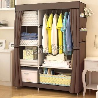 Harga Rising Star Fashion Multifunction Cloth Wardrobe Storage Cabinets