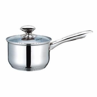 Masflex 16cm Stainless Steel Sauce Pan with Lid (Silver) Price Philippines