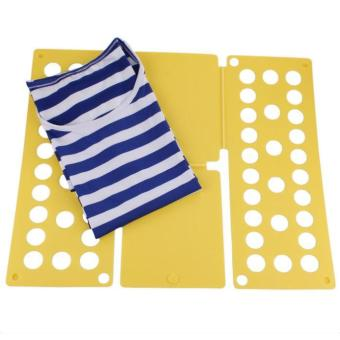 Harga 1PC Laundry Child Magic Fast Easy Speed folding Clothes Fold Board Yellow - intl