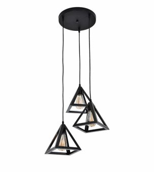 Harga Big Lite Metal Hanging Ceiling Lamp Housing SPB1097/3-S Modern LED Lighting