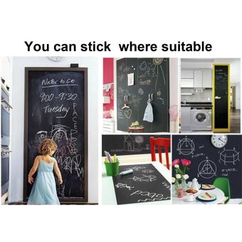 Harga Vinyl Chalkboard Wall Stickers Removable Blackboard Decals Great Gift for Kids 45CMx200CM - intl