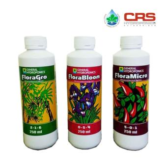 Harga General Hydroponics Flora Series Nutrients 250ML