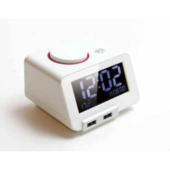 Homtime C1 - Alarm Clock with Charging Function for Mobile Phone (White) Price Philippines