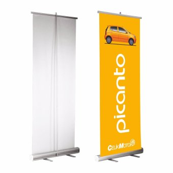 "Economy 33""x78"" Adjustable Height Retractable Roll up Banner Stand Trade Show Sign Holder Price Philippines"