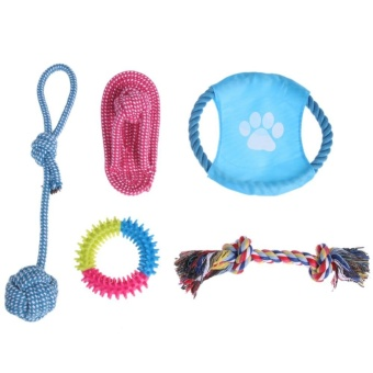 Harga 5pcs Puppy Dog Pets Chew Toys and Pet Rope Toy for Small to Medium Dogs - intl