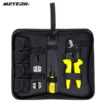 Harga Meterk Professional 4 In 1 Wire Crimpers Engineering Ratcheting Terminal Crimping Pliers Bootlace Ferrule Crimper Tool Cord End Terminals.