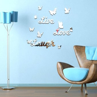 Harga Live Laugh Love Quote Vinyl Wall Decal Stickers Mirror Home room Decor DIY